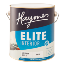 Haymes Elite Interior Low Sheen Acrylic White 15L